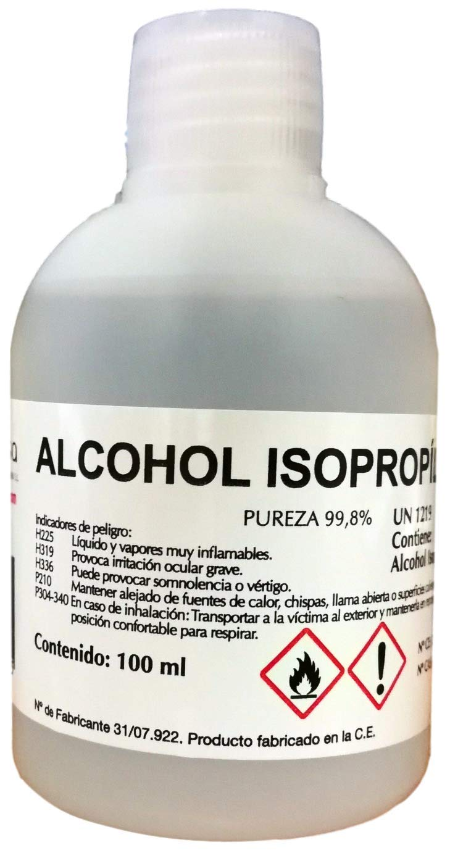 Alcohol Isopropilico-Isopropanol. 99,8%. Envase 100 mL.