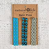 Natural Life Hair Pin Set Bright Blue