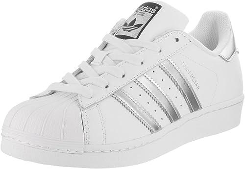 basket adidas superstar blanc argent