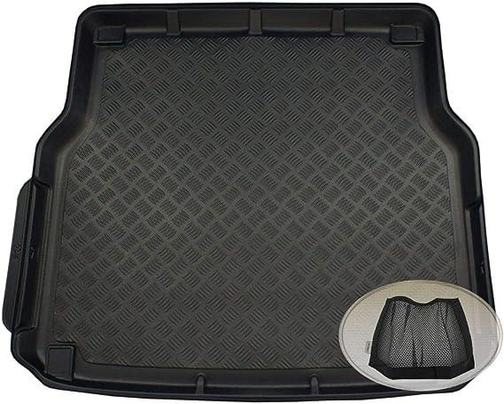 Zentimex Z3323700 Geriffelte Kofferraumwanne Fahrzeugspezifisch Klett Organizer Laderaumwanne Kofferraummatte Auto