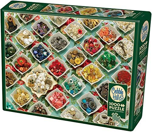 Cobblehill 80066 1000 Pc Grandma S Buttons Puzzle Vari