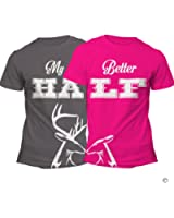 Matching Couples Shirts His and Hers Shirt Set Her Buck His Doe
