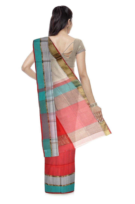Maheshwari Cotton & Silk Saree With Blouse Piece