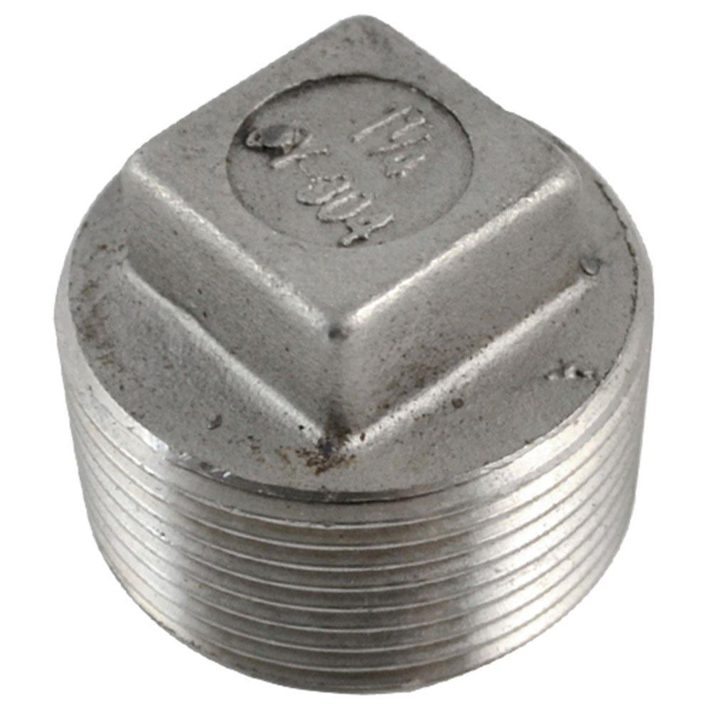 1-1/4'Cabeza Cuadrada Maleable Tubo De Tapó n Roscado Macho SS304 BSP DANSU EMPRESA