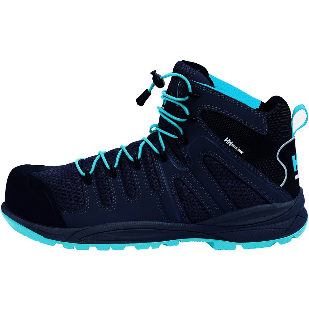 f9b52f1802e Helly Hansen Flint Mid Safety Boot (36 eu / 3.5 UK, Black and Blue)