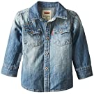 Levi's Baby Boys' Long Sleeve Denim Shirt, Alta, 12 Months