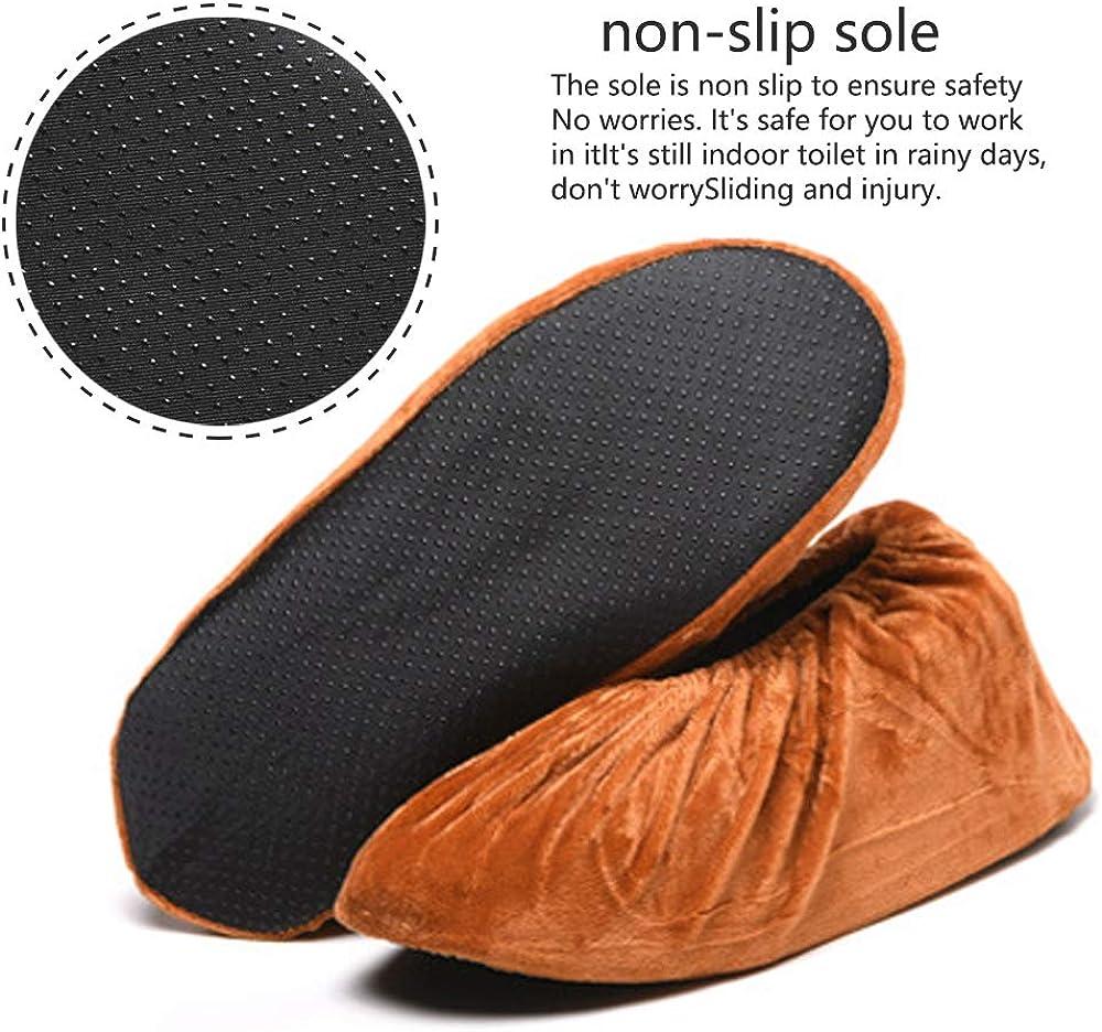 3 Paires Surchaussures Lavables Couvre-chaussure Anti Glisse Antid/érapant Chausson avec Flanelle pour Maison le M/énage SENDILI Surchaussures Reutilisable