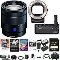Sony 24-70mm f/4 Zoom Lens w/ VGC2EM Battery Grip & LAEA3 Mount Adapter Bundle