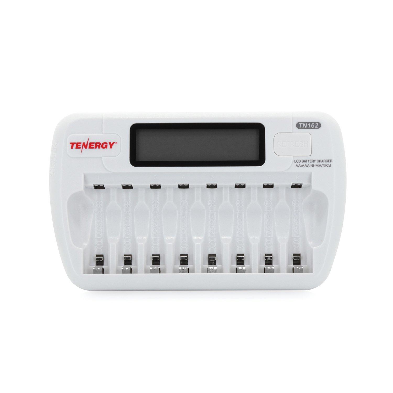 Combo: Tenergy TN162 8-Bay Smart LCD AA/AAA NiMH/NiCd Charger + 16 AAA Premium NiMH Rechargeable Batteries by Tenergy (Image #2)