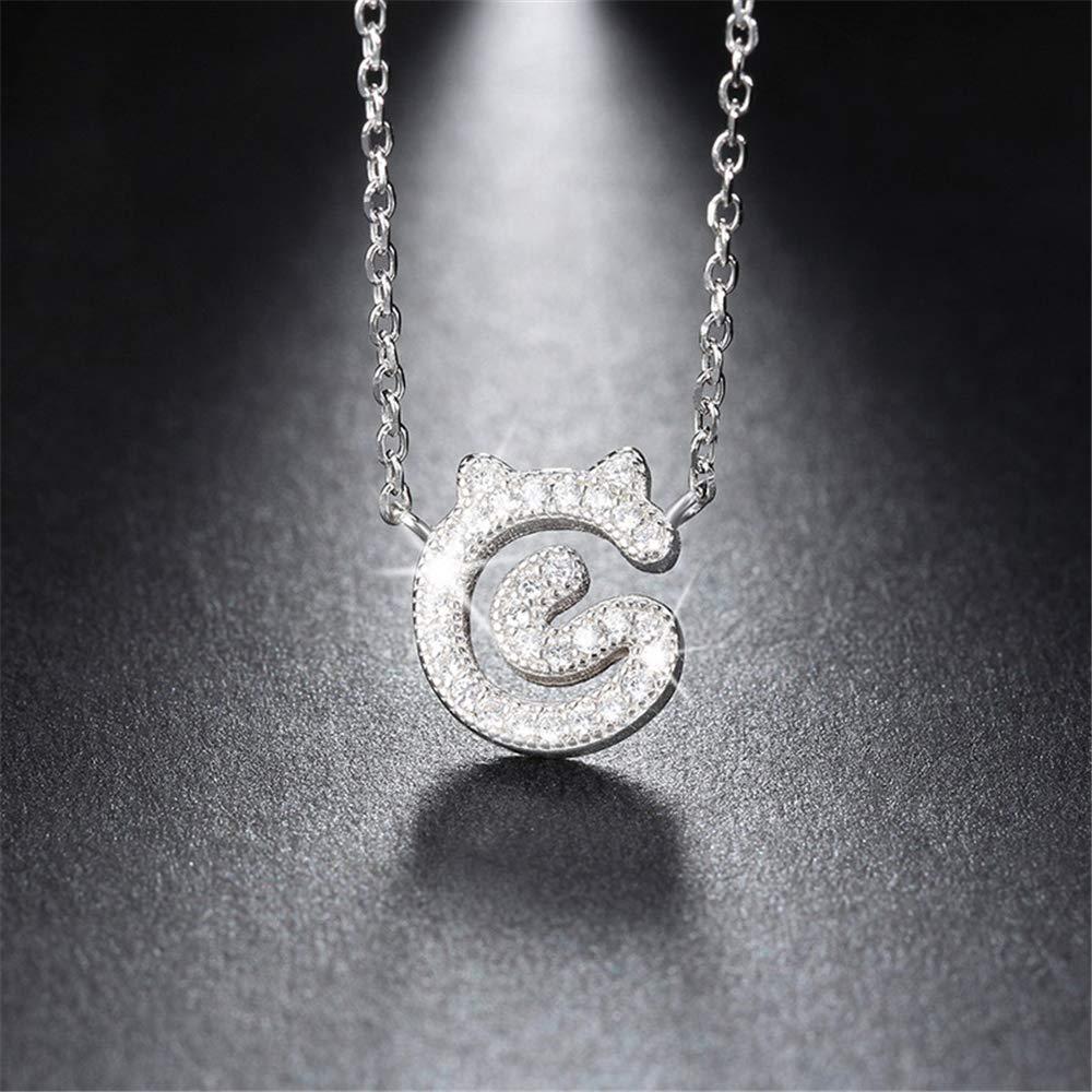 GLEENECKLAC 925 Sterling Silver Animal Pendant Necklaces 45 cm for Women Genuine Silver Jewelry