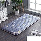 HYXL Plush Portable folding Floor mat Thicken Tatami mattress,Student [dorm room] Mattress Single bed Floor [nap] [pad] [cotton] Cushion Tatami mats Carpet-D 90x190cm(35x75inch)