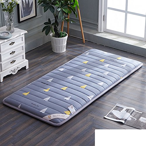 HYXL Plush Portable folding Floor mat Thicken Tatami mattress,Student [dorm room] Mattress Single bed Floor [nap] [pad] [cotton] Cushion Tatami mats Carpet-D 90x190cm(35x75inch) by HYXL