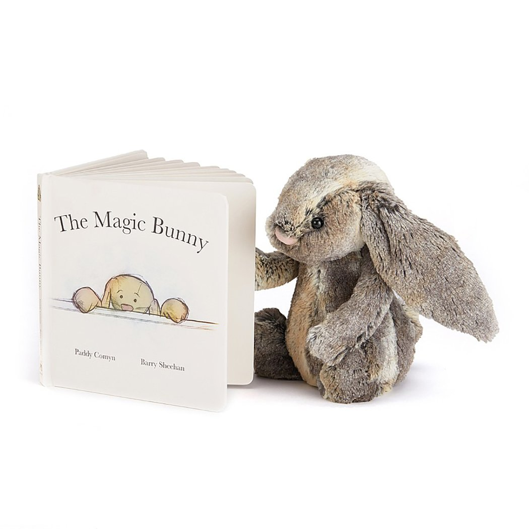 Jellycat Magic Bunny Board Book and Woodland Bunny, Medium - 12 inches by Jellycat (Image #1)
