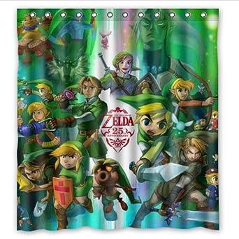 Perfect Custom Legend Of Zelda Waterproof Bathroom Shower Curtain Polyester Fabric Shower  Curtain Size 66 X 72