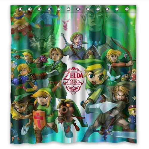 Custom Legend Of Zelda Waterproof Bathroom Shower Curtain Polyester Fabric Size 66 X 72 Amazonca Clothing Accessories