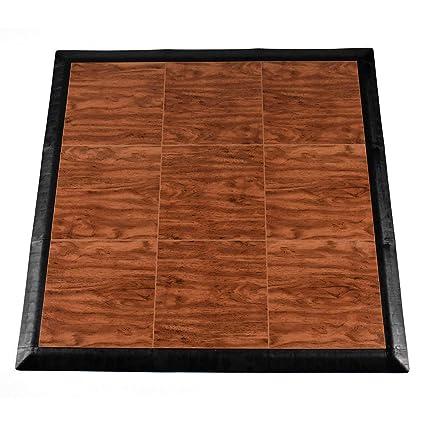 Greatmats Portable Dance Floor 9 Tiles, Portable Tap Dance Kit (Cherry)