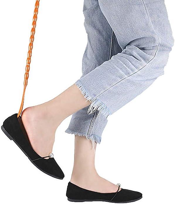 HEALLILY Scratchcher 2 en 1 avec appareil de massage pour le corps cornes de chaussures brun
