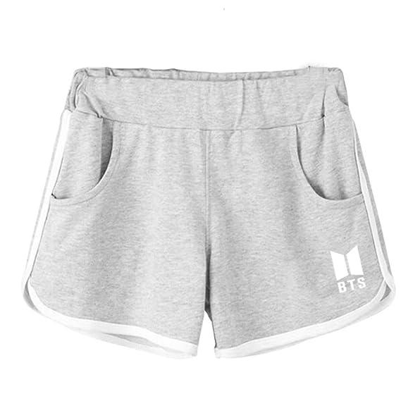 Partiss Damen Kurze Hosen Damen Sommer Shorts Fuer BTS Fans