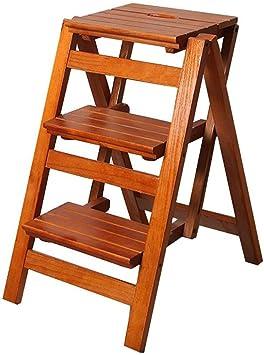 XMGJ Escaleras extensibles Taburete con escalones - Taburete con peldaños de madera maciza Taburete con pedales anchos y antideslizantes para el hogar Taburete con reposapiés estable antideslizante Si: Amazon.es: Bricolaje y herramientas