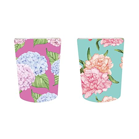YaYa Cafe� Floral Flower Captivating Symmetrical Decorative Pots Planter Indoor (Only Pots) Set of 2