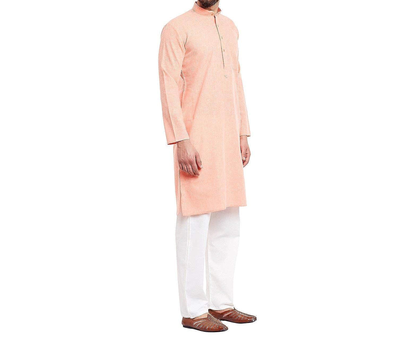 Cotton Mens Kurta Pajama Churidar Traditional Wear Indian Ethnic Plain Kameez