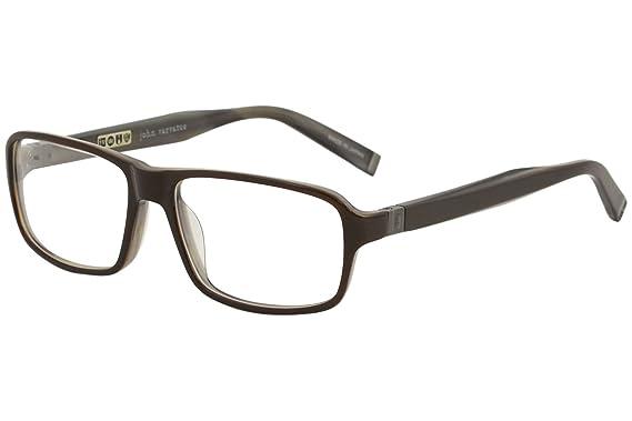Amazon.com: John Varvatos Rx Eyeglasses - V340 Brown Horn - 55/16 ...