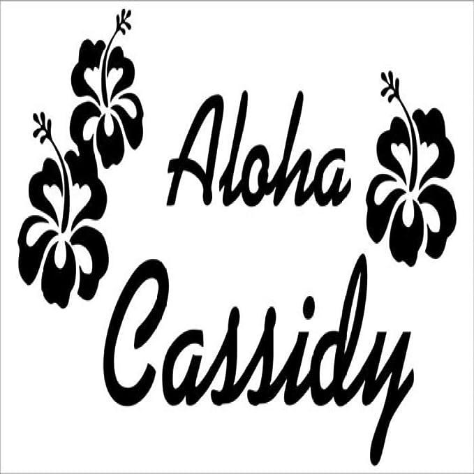 YuanMinglu Tatuajes de Pared con Nombre Hawaiano Estilo Moderno ...