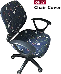 Jiyaru Rotating Armchair Slipcover Removable Stretch Computer Office Chair Cover -2 (Only Cover)