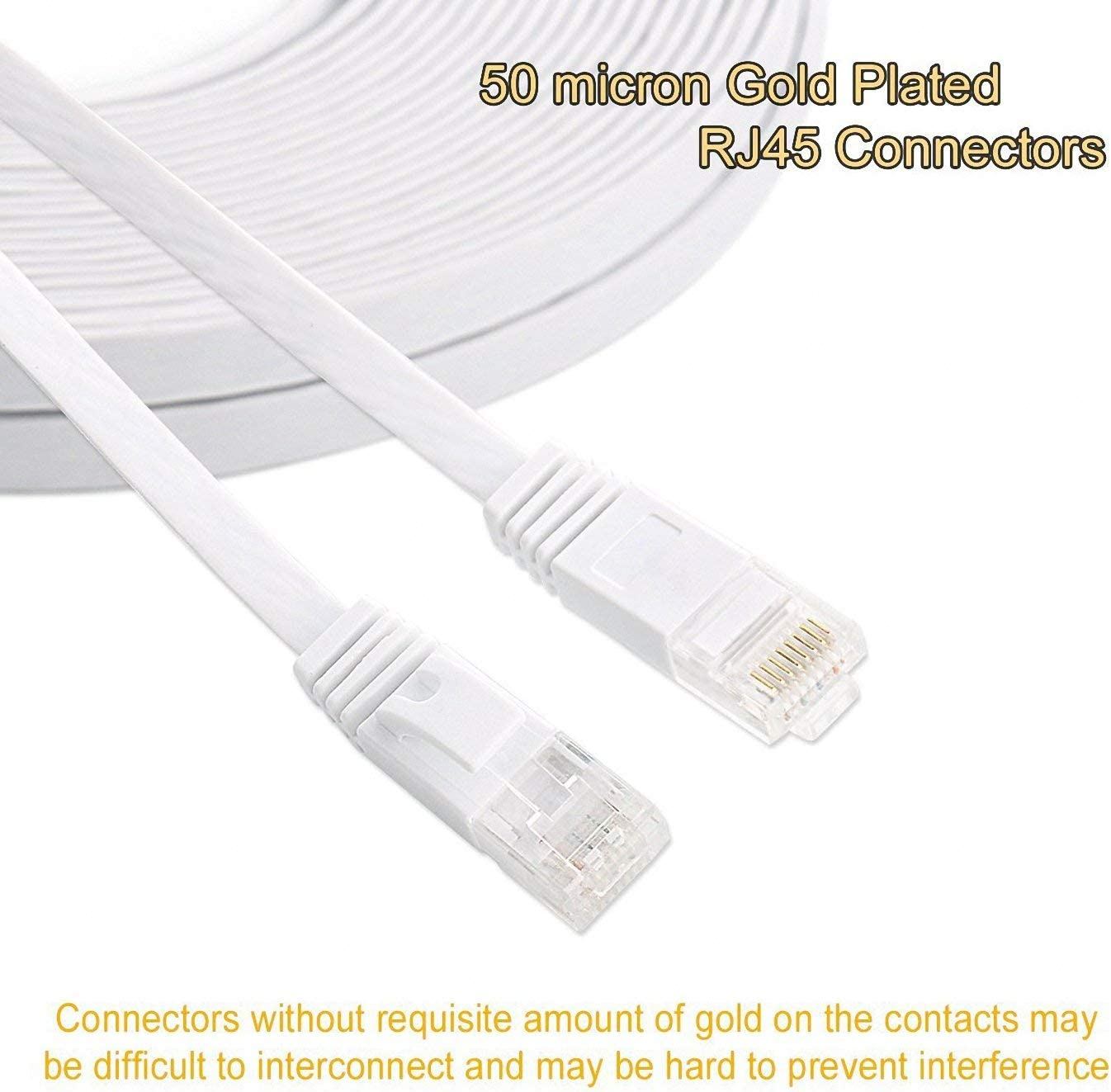 Ethernet Cable Cat6 200 Ft Flat with Cable Clips Slim Network Cable comtelek cat 6 Ethernet Rj45 Patch Cable 60 Meters 200 Feet Black Thin Internet Computer Cable