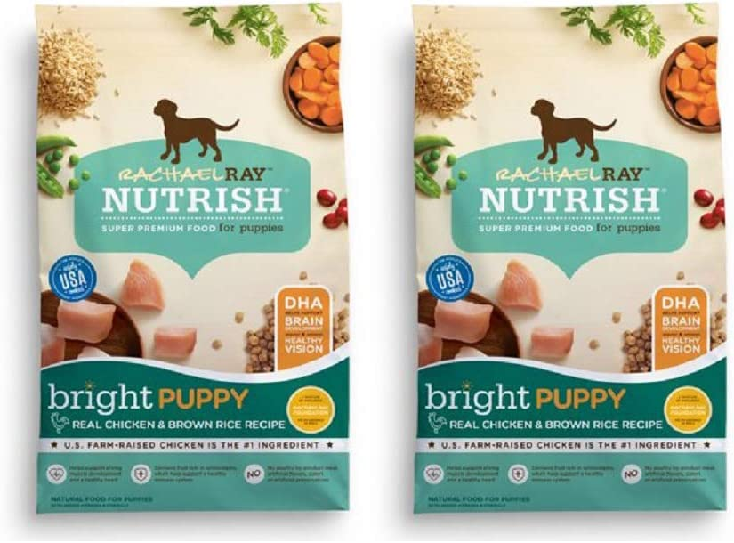 Rachael Ray Nutrish Natural Dry Dog Food (2 Pack, Puppy Real Chicken & Brown Rice)