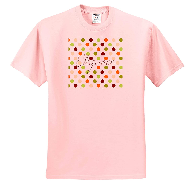 Pattern Dot Line Chevron Polka dot Pattern of Orange Brown Colors T-Shirts Green 3dRose Alexis Design Text Elegance