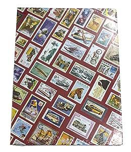 Leuchtturm 306154 Clasificador DIN A4 con motivos de sellos HOBBY, 16 hojas blancas, colores surtido