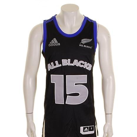adidas Todos Los Blacks Nueva Zelanda 2015 NBA de Pelota de Baloncesto Camiseta de Fútbol Para