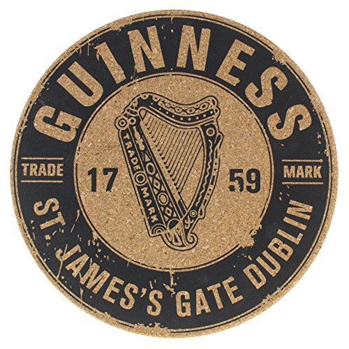 Guinness Cork Placemat With 1759 St. James's Gate Harp (Pub Table Logo Design)