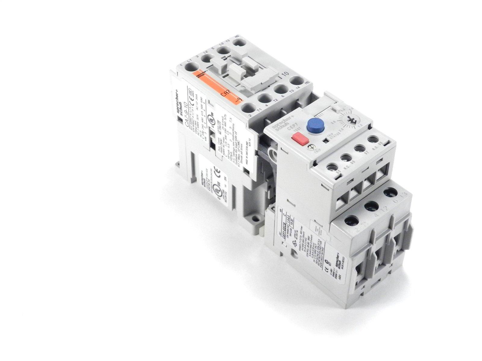 Sprecher & Schuh Magnetic Motor Starter Contactor & Overload Relay CA7-9-10-24Z + CEP7-EEDB