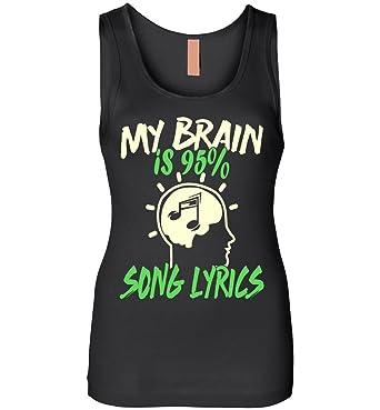 Music Lover - My Brain is 95% Song Lyrics Tank Top at Amazon