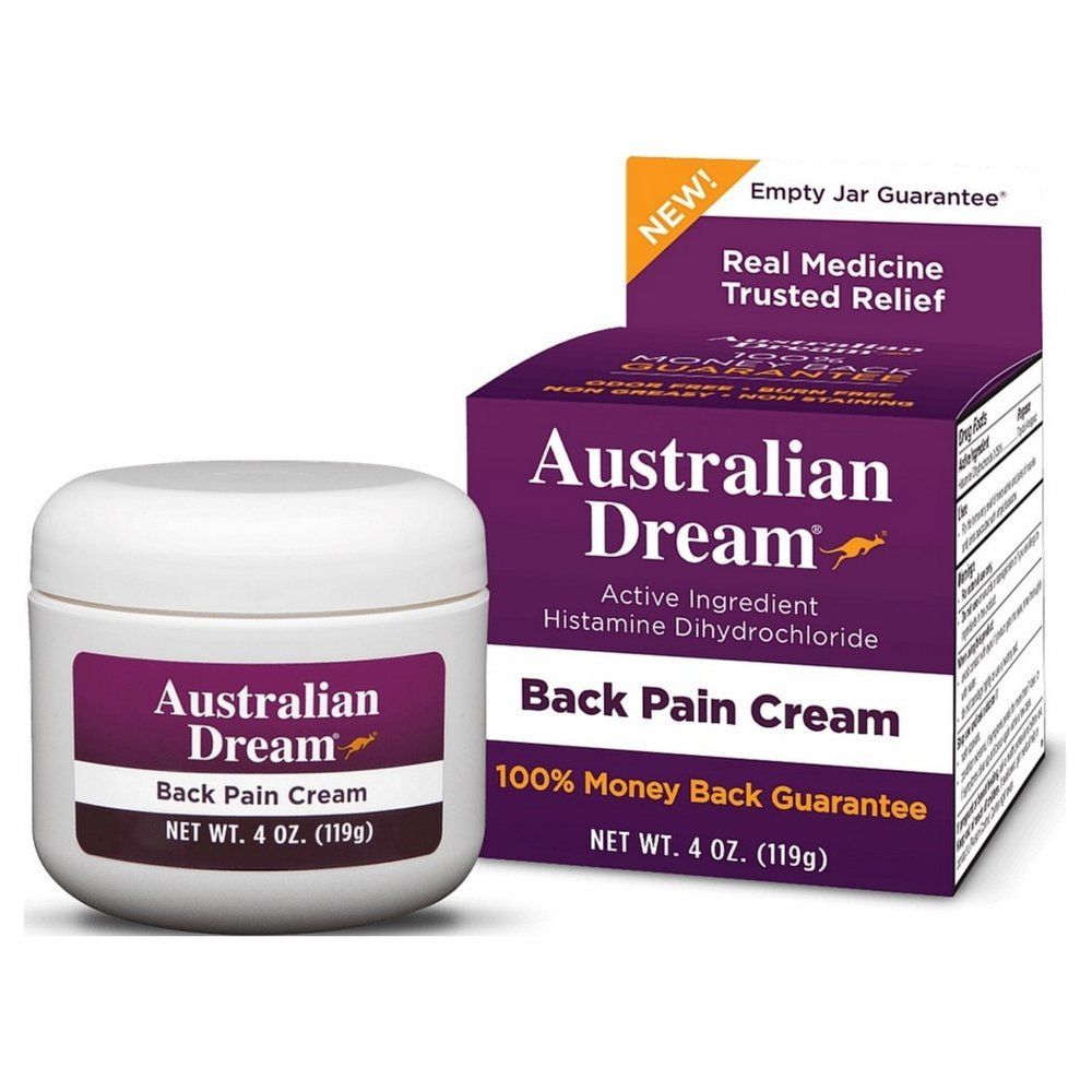 Australian Dream Back Pain Cream 4 oz (Pack of 4)