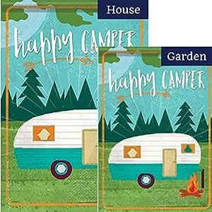 Happy Camper hoguera bandera Bundle (paquete de 2)