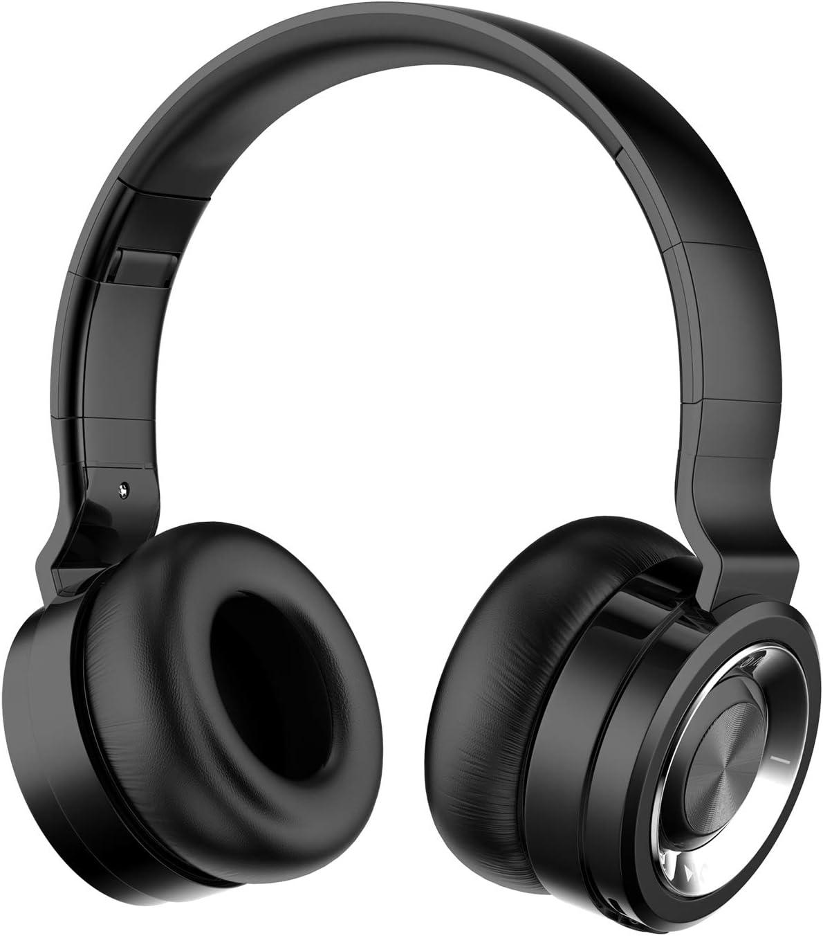 Alitoo Auriculares Inalámbricos Bluetooth con Micrófono Hi-Fi Deep Bass Auriculares Inalámbricos Sobre El Oído, Almohadillas de Protección Cómodo, 12 Horas de Tiempo de Juego para Viajes (Plata Negro): Amazon.es: Electrónica