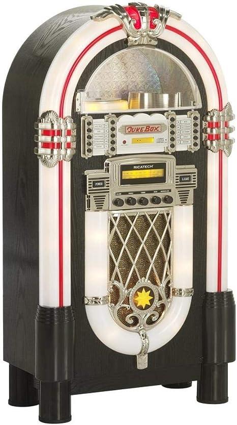 Ricatech RR950 Retro Jukebox Reproductor de CD Bluetooth Radio FM ...