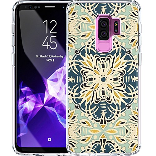 S9 Plus Case, LAACO Scratch Resistant TPU Gel Rubber Soft Skin Silicone Protective Case Cover for Samsung Galaxy S9 Plus Gallery Art Printing Whimsical Flowers Folk Kaleidoscope