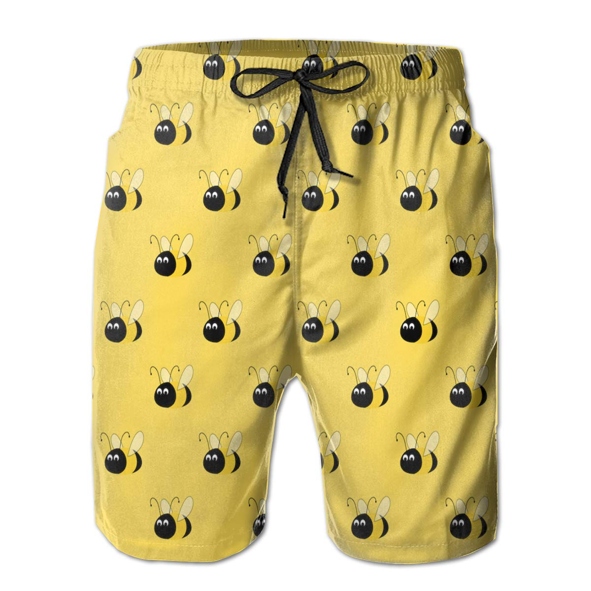 JF-X Bee Mens Summer Beach Surf Board Shorts Quick Dry Swimming Trunks Casual Loose Sleep Short Pants
