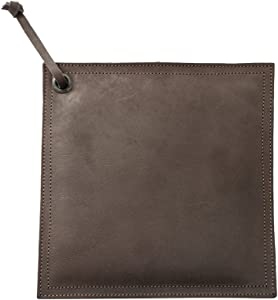 Hide & Drink Leather Hot Pot Pad (Potholder), Double Layered, Double Stitched and Handmade Espresso