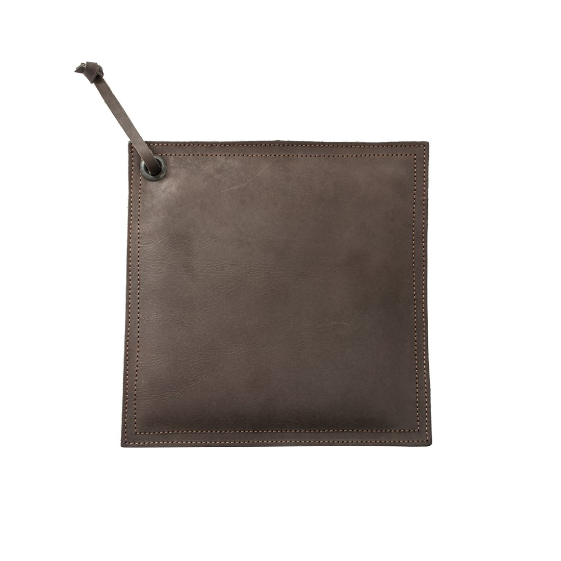 Leather Hot Pot Pad (Potholder), Double Layered, Double Stitched and Handmade by Hide & Drink :: Espresso