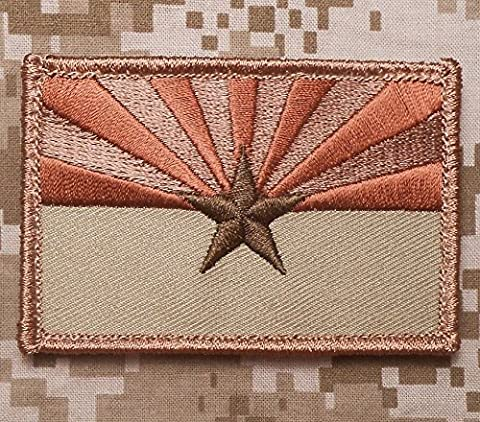 KYCCCOOO ARIZONA STATE FLAG TACTICAL US ARMY USA MILITARY MORALE DESERT ARID HOOK PATCH (Desert Arizona Flag Patch)