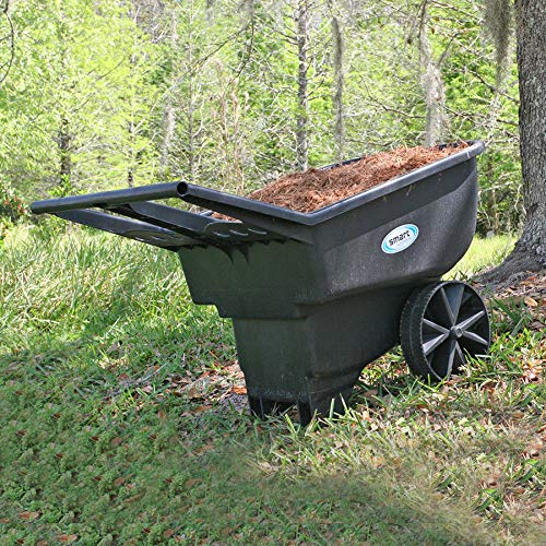 Professional house Wheelbarrow 4.5-cu ft Durable Garden Yard Dump Cart Mulch Dirt Rocks Cleanup