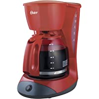 Cafetera Oster® roja de 12 tazas con función de pausa y servir