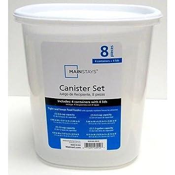 Amazoncom Mainstays 4pc Canister Set Home Kitchen