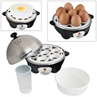Tooltime® 360w Electric Egg Boiler Poacher Cooker with Stainless Steel Top - Makes up to 7 Eggs