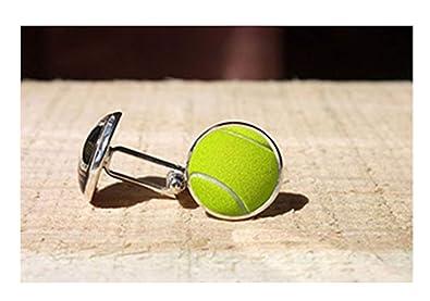 Leonid Meteor Gemelos de Bola de Tenis de Ducha, Gemelos de Boda Personalizados, eslabones de Bolas de Deporte, Jugador de Tenis, Regalo para él,: ...